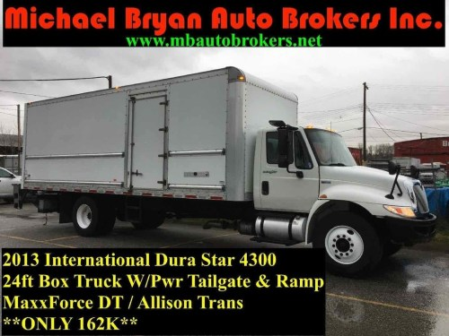 small resolution of 2013 international dura star 4300 24ft box truck pwr tailgate ramp coquitlam 43 900