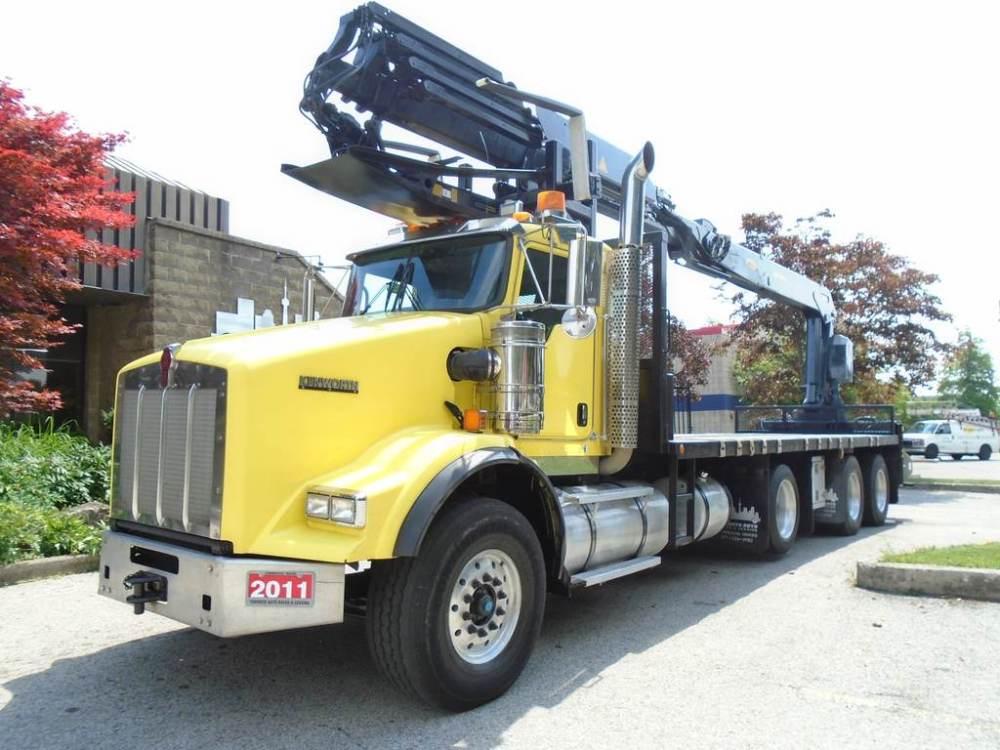 medium resolution of 2011 kenworth t800 extra clean certified heila crane tri axle mississauga 149 900