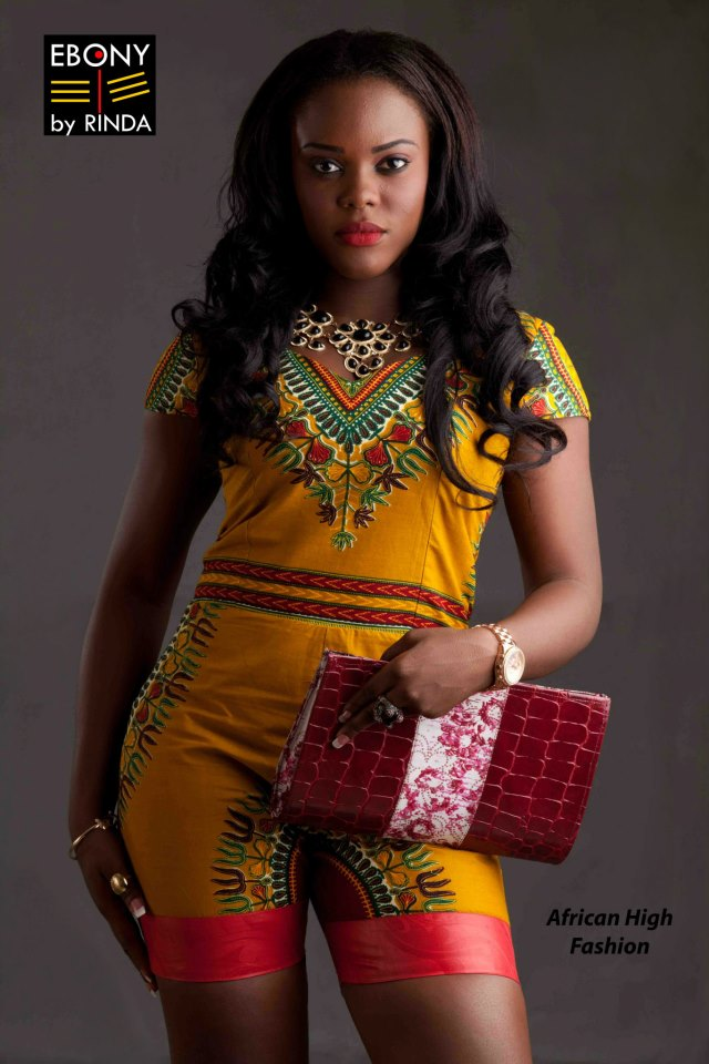 EBONY BY RINDA- African print outfit and clutch bag
