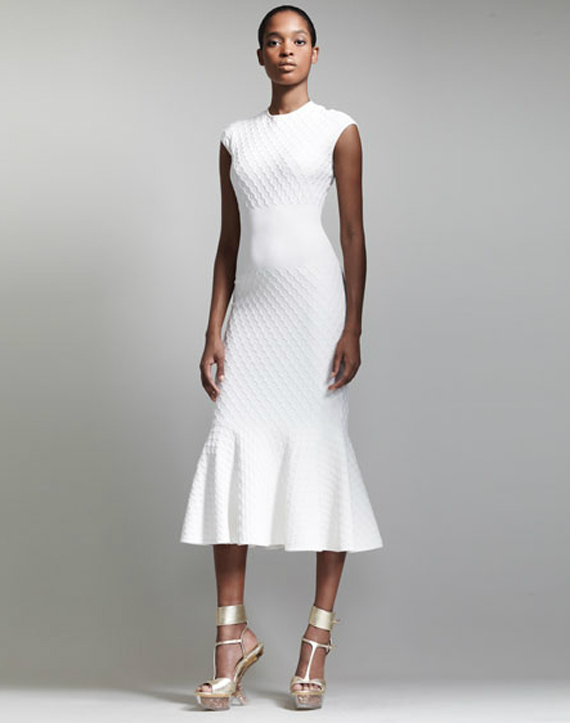 alexander-mcqueen-Honeycomb-Knit-Fishtail-Dress