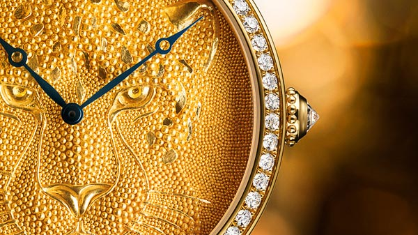 Rotonde de Cartier 42mm Panther with granulation by Maison Cartier