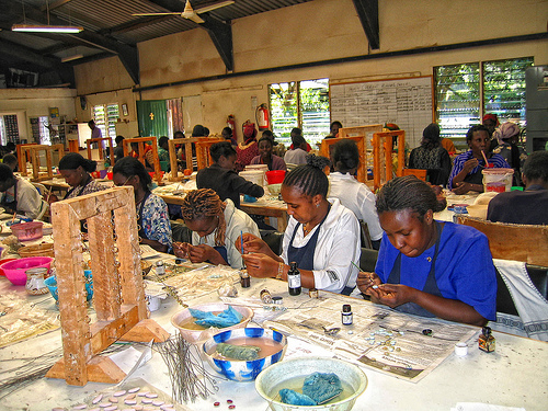 Kazuri Beads creating employment for women- with over 400 women employed