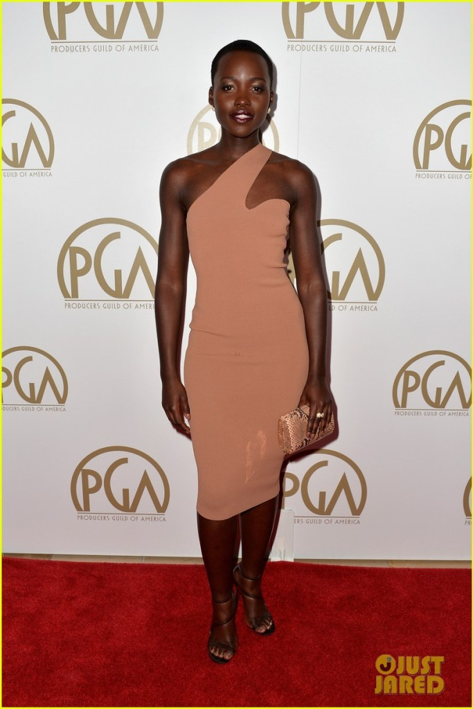 Recently worn by Oscar nominee Lupita Nyong'o at the Producers Guild Awards in LA