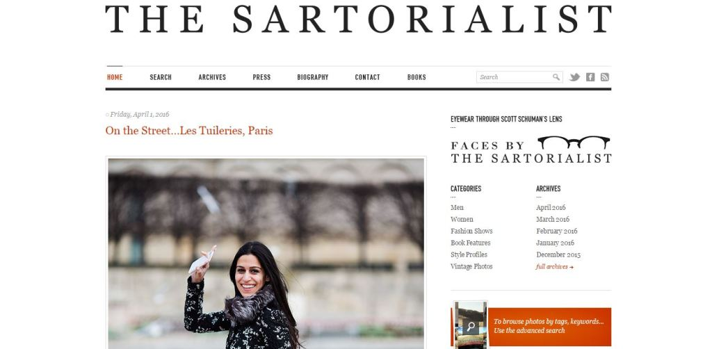 From the archives of The Sartorialist (Image courtesy of thesartorialist.com)