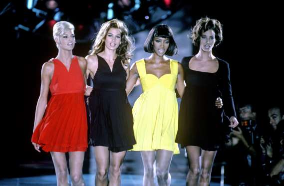Recognising the selling power of the supers, Gianni Versace cast Linda, Cindy, Naomi and Christy to walk in his autumn/winter show in December 1991, reportedly paying them $30,000 each.