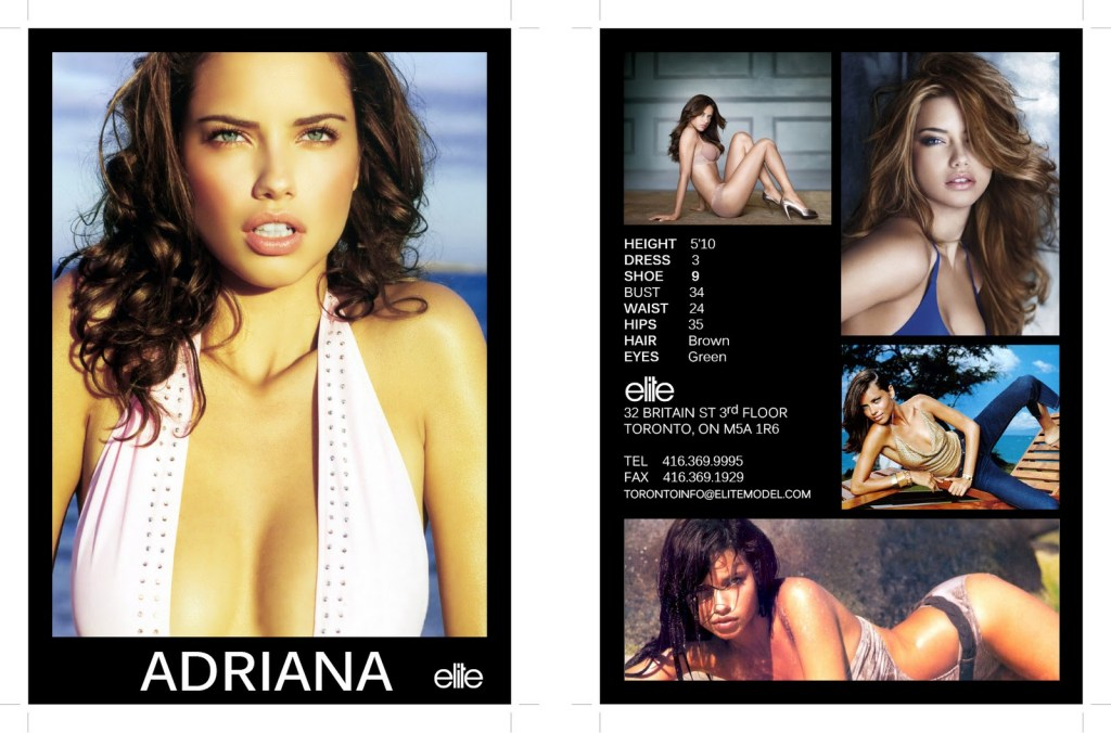 An example of a model's Z card [Image: courtesy of Elite Models Agency]