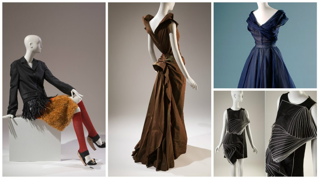 From Left: Milan, New York, Paris and London displays at the Global fashion capitals museum at FIT exhibition [Image: Courtesy of FIT]