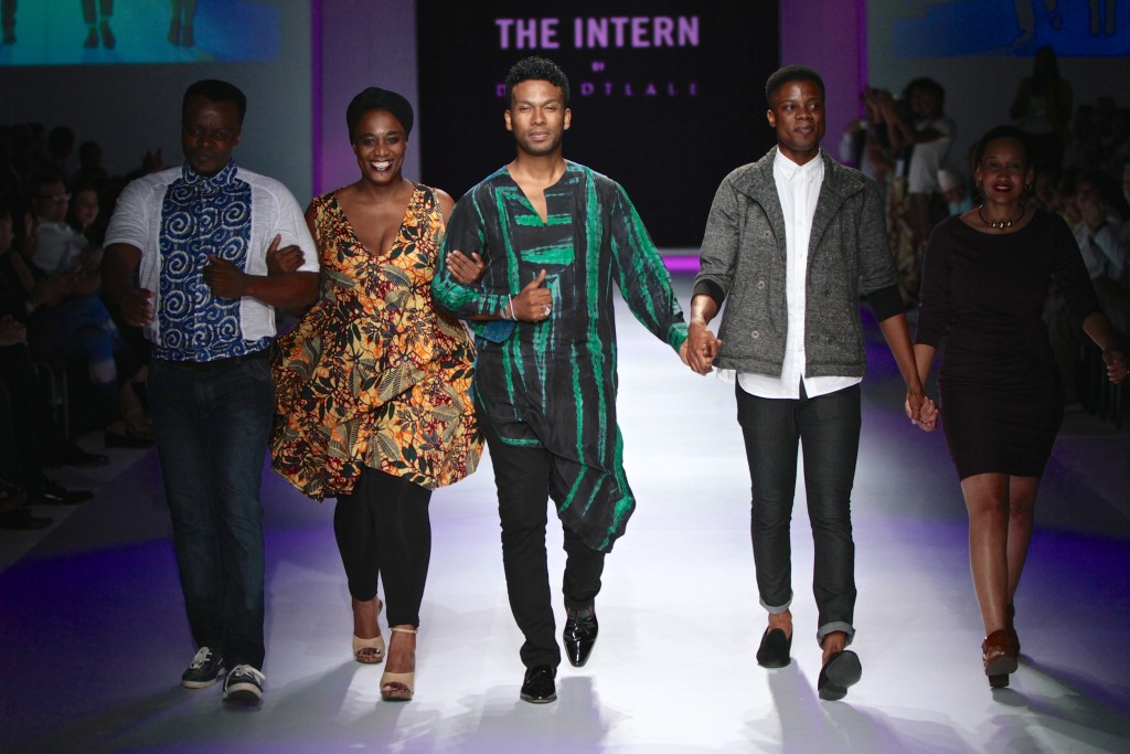 David Tlale and the Interns [Image: Simon Deiner]