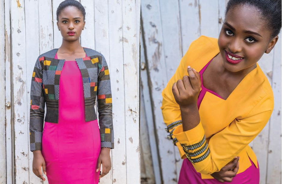 From left: Mstatili Pencil dress with Mstatili crop blazer & Mstatili Pencil dress and Njano Blazer.[Image: Courtesy of Mambo Pambo]