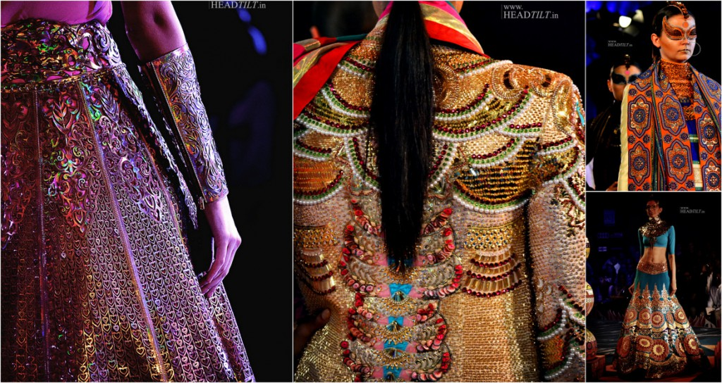 Collection by Manish Arora with Laser Cut filled with works of applique comma sequins and more [Image: Courtesy of Headtilt]