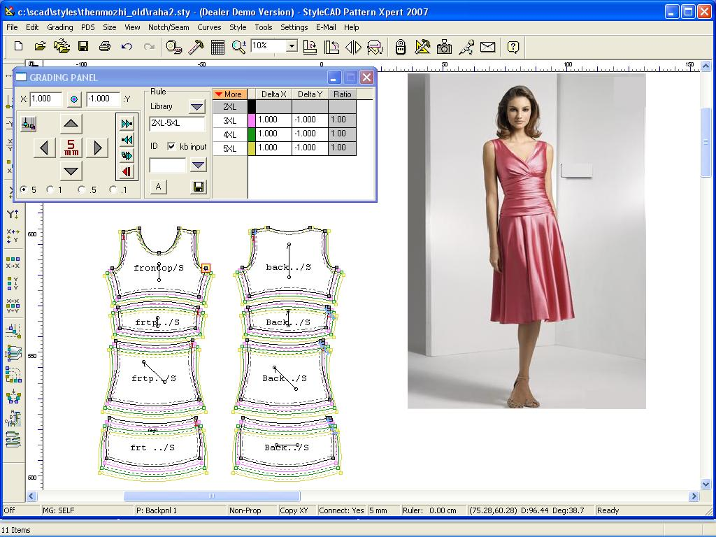 Winfashion CAD Pattern making to cutting