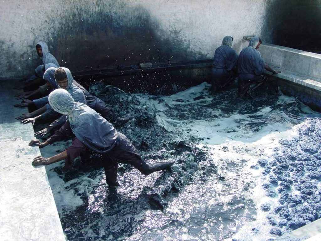 Indigo Stepping Extraction Process