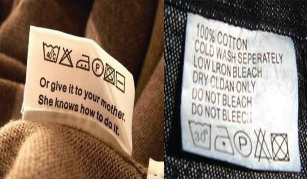 What do the Symbols on your clothing labels mean? Before cutting them off, give it a read for the best care practices... you could be helping the environment and your wardrobe too [Image: Health Expert Group]