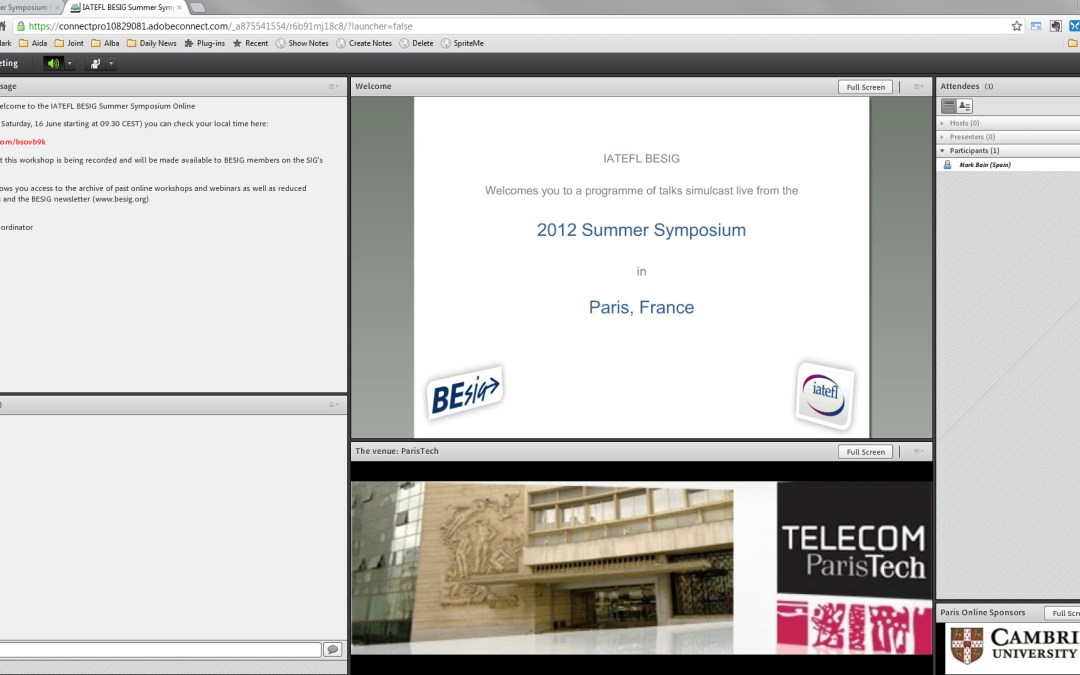 Watch IATEFL BESIG symposium live online