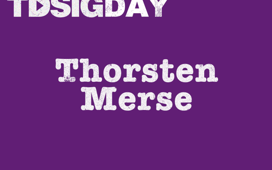 SIG Day speakers – Thorsten Merse