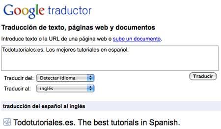Traductor de español a ingles