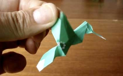Colibrí en papiroflexia
