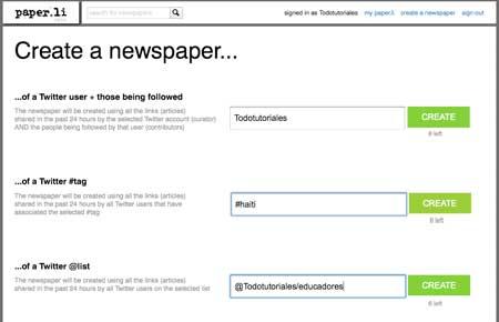Crear periódico