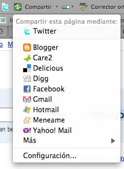 Compartir en barra Google
