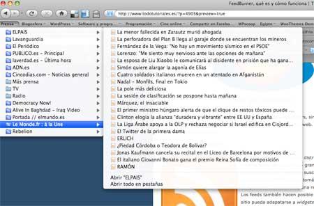 Lector de Feeds de Firefox