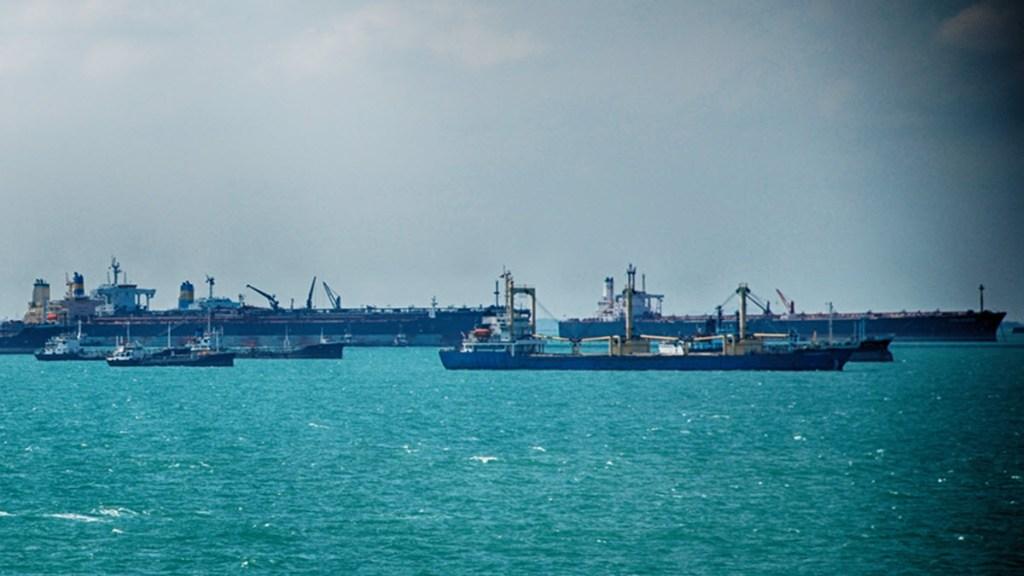 Ships awaiting berth
