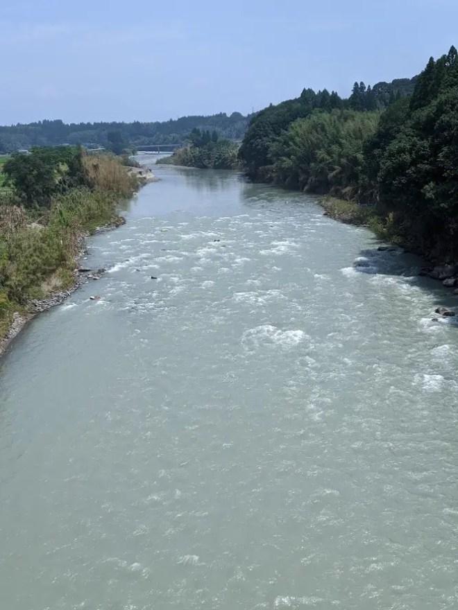 九州豪雨から1ヶ月後の川辺川