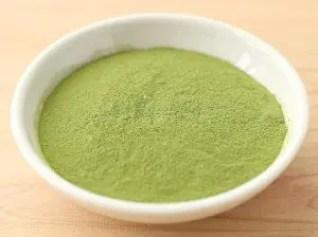 粉末緑茶(挽いた茶葉)