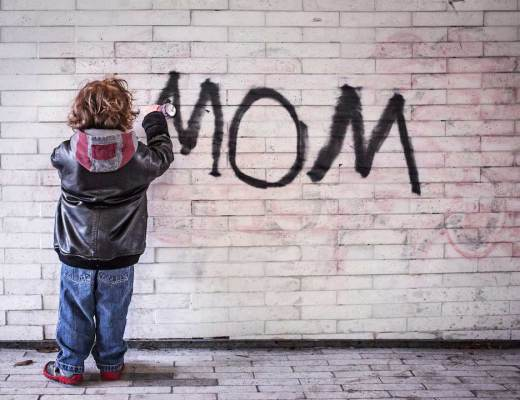 being a mother graffiti kid mom