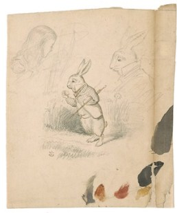 John Tenniel Rabbit Sketch Alice in Wonderland