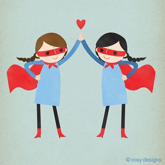 Super High Five, high five, rosy designs, 5th anniversary, sisterhood