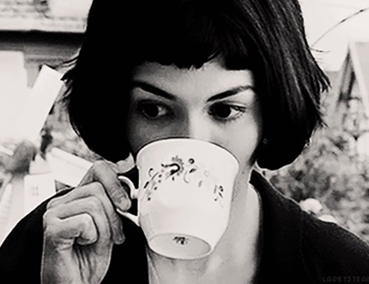Audrey Tautou, tea, sipping, best feels