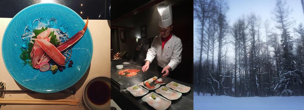 Sapporo, Hokkaido, crab, personal chef, Japanese food