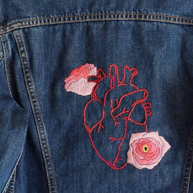 Jam, get lost clothing, embroidery, broken heart, needlework