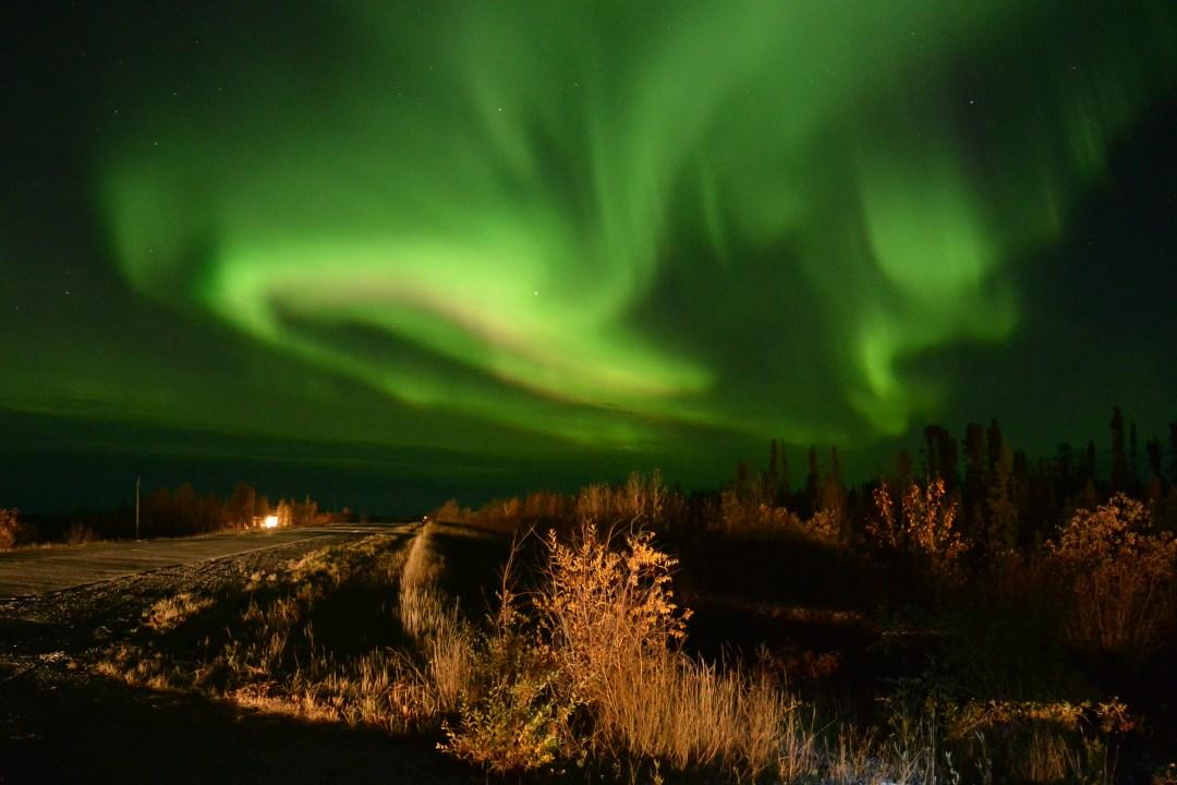 light, dark, aurora borealis, Yellowknife