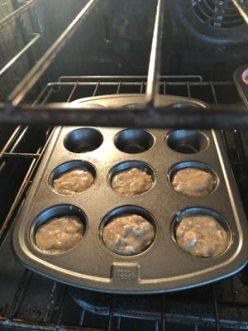 banana, muffin, lunch box, bake, baking