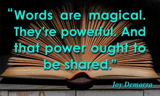 spark, book, magical, words, powerful words, share words