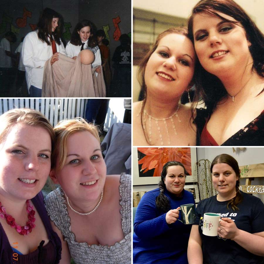 friendship, friends, BFF. The friendship of 2 women over 25 years.