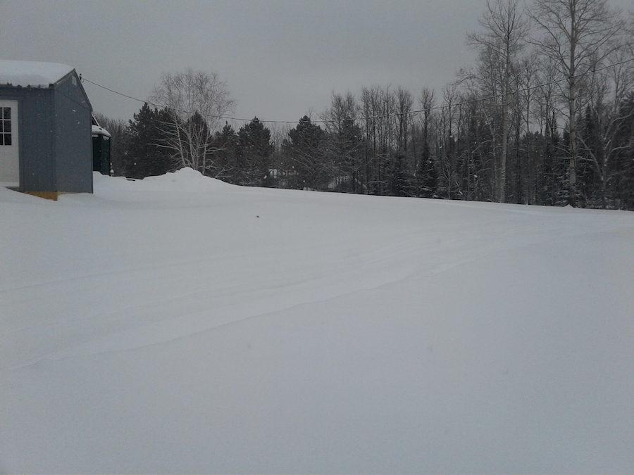 Snowy empty plot