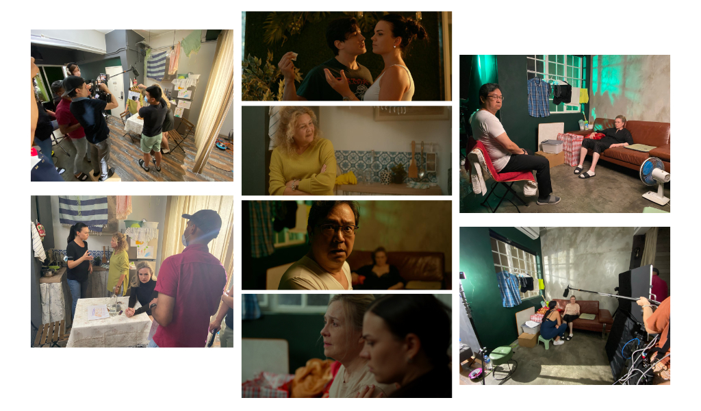 """Bridget's art directing in Hong Kong. Images from the making of the short film """"Away"""""""