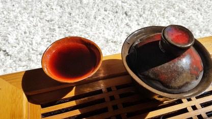 Китайская чайная церемония, шу пуэр, пиалы для чая