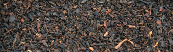 A close up view of the inside of a typical tea bag