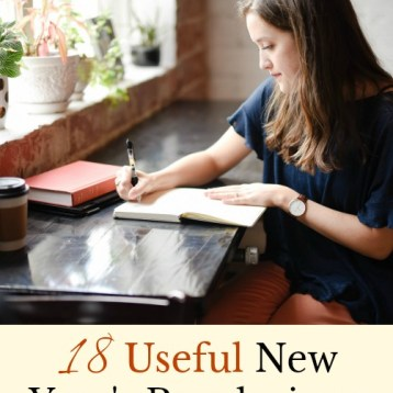 Here are 18 bookish New Year's Resolutions for book lovers everywhere. These resolutions will bring more books into your life, and make you a better reader with the best kind of bookish habits. #resolutions #literarywoman #bookworm #booknerd #reading