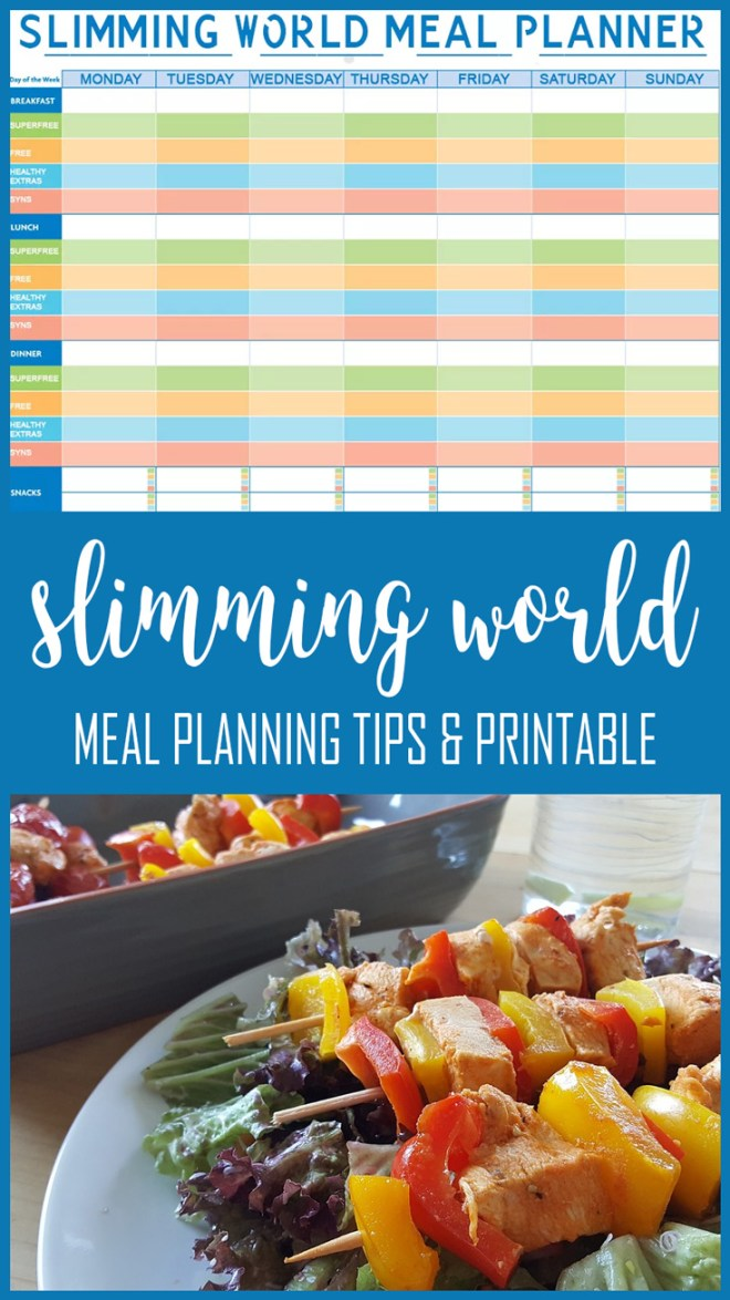 slimming world meal planner printable and meal planning ideas