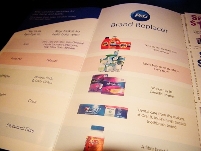 P&G My Canadian Essentials Brands