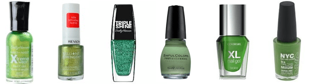 Drug-Store-Green-Nail-Polishes