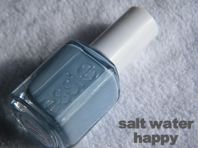 Salt Water Happy Swatch - Essie Peach Side Babe Collection Swatches - Tea & Nail Polish
