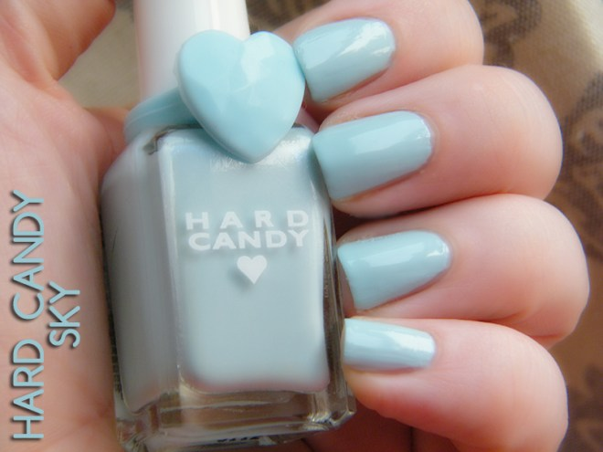 Hard Candy 20th Anniversary Nail Polish Sky Swatch & Review