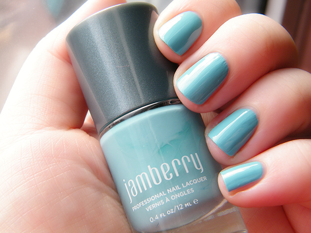 Jamberry Nail Lacquer Morning Mist Swatch Canada