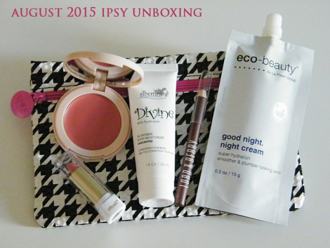 ipsy august 2015 unboxing