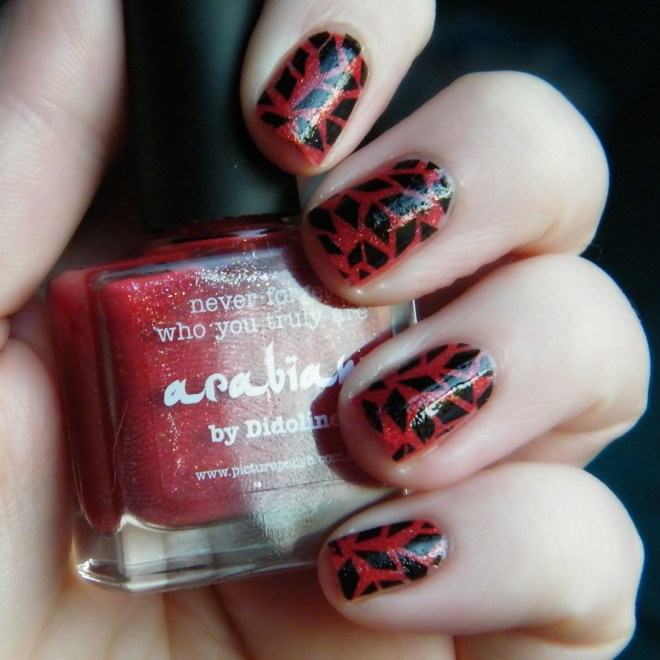 Abstract Geo Nail Art Sq CBBOctNails